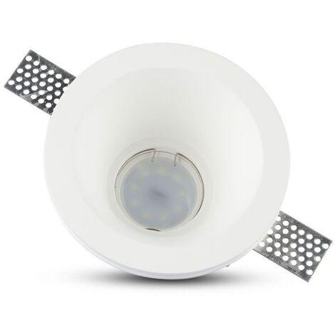 Plafond Rond Plâtre pour allocation Spot LED GU10 V-TAC Φ132mm VT-773 SKU 3654