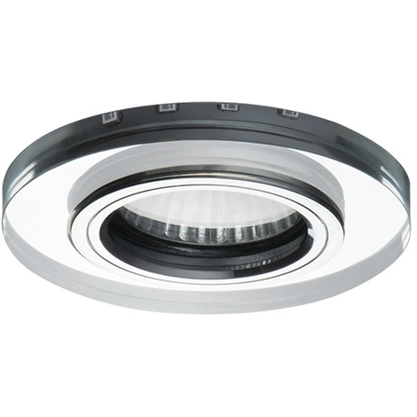 Plafond rond pour Spotlight JDR/GU10 avec intégré la source lumineuse 3.6W Verre Kanlux SOREN O-BL Cod. 24411 - Miroir bleu