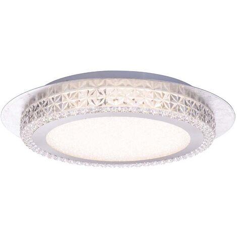 Plafones de luz LED del techo lámpara estrellas cielo efecto cristal plata hoja proyector Globo 41912-18S