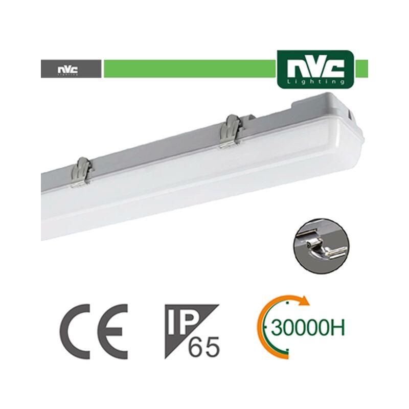 plafoniera lineare led 100° 18 watt 220-240 volt A+ CE IP65 bianco naturale no lif nv49118w40k65