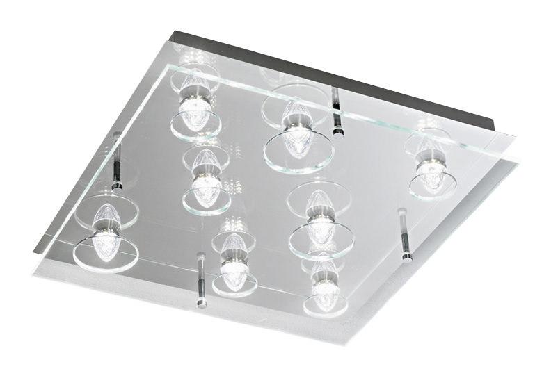 Plafoniere Led Grandi Dimensioni : Plafoniera a led 24w vetro trasparente perenz 6300