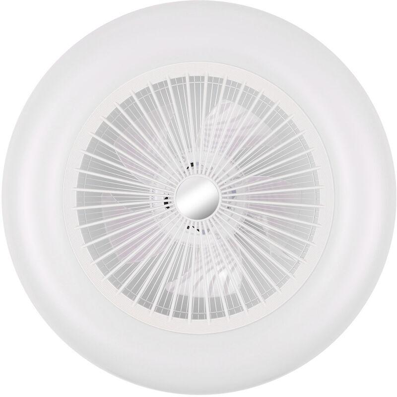 GYLEJWH 40W Soffitto Plafoniera Ventilatore Calda E Fredda Illuminazione A LED Ventilatore Invisibile Ventola con Funzione di Guida dellAria velocit/à del Vento Regolabile