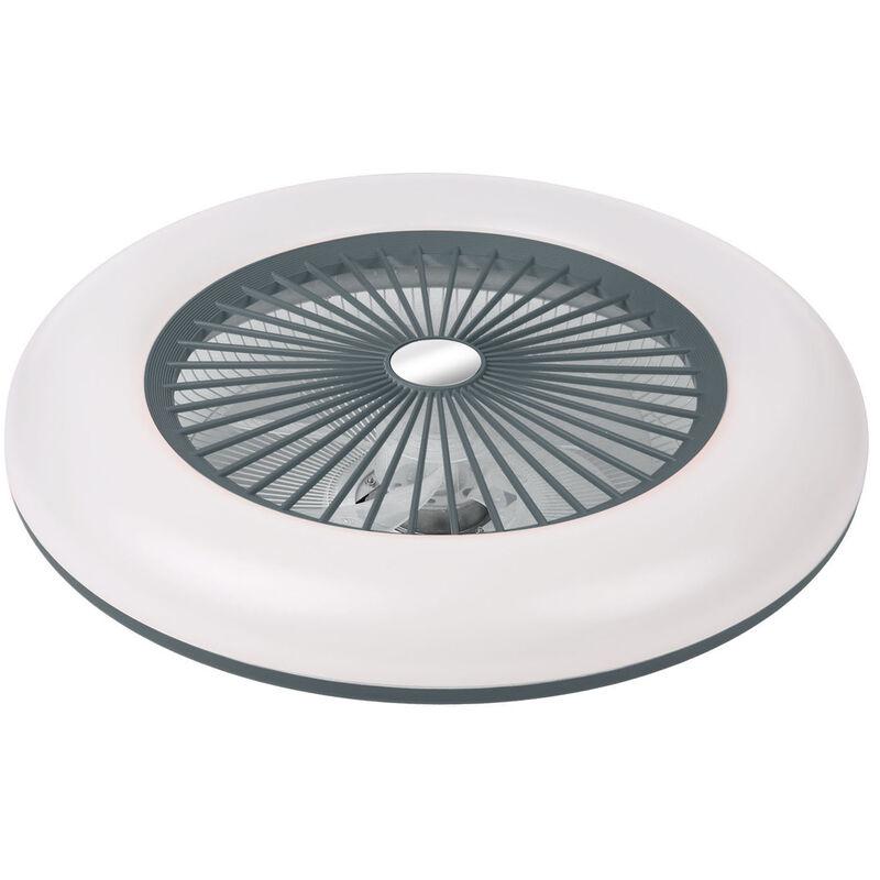 Plafoniera a LED, con ventilatore, 200-240V 36W, grigio - ASUPERMALL