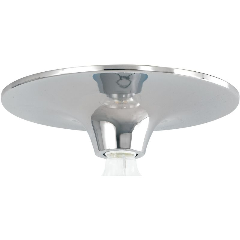 Plafoniere Con Lampadina A Vista : Plafoniera a soffitto vesevus in metallo cromo dm30 cm lampada vista