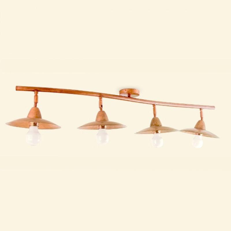 Plafoniera ba-elitra 4 luci lampada soffitto parete classica rustica interno e27 - LAMPADARI BARTALINI