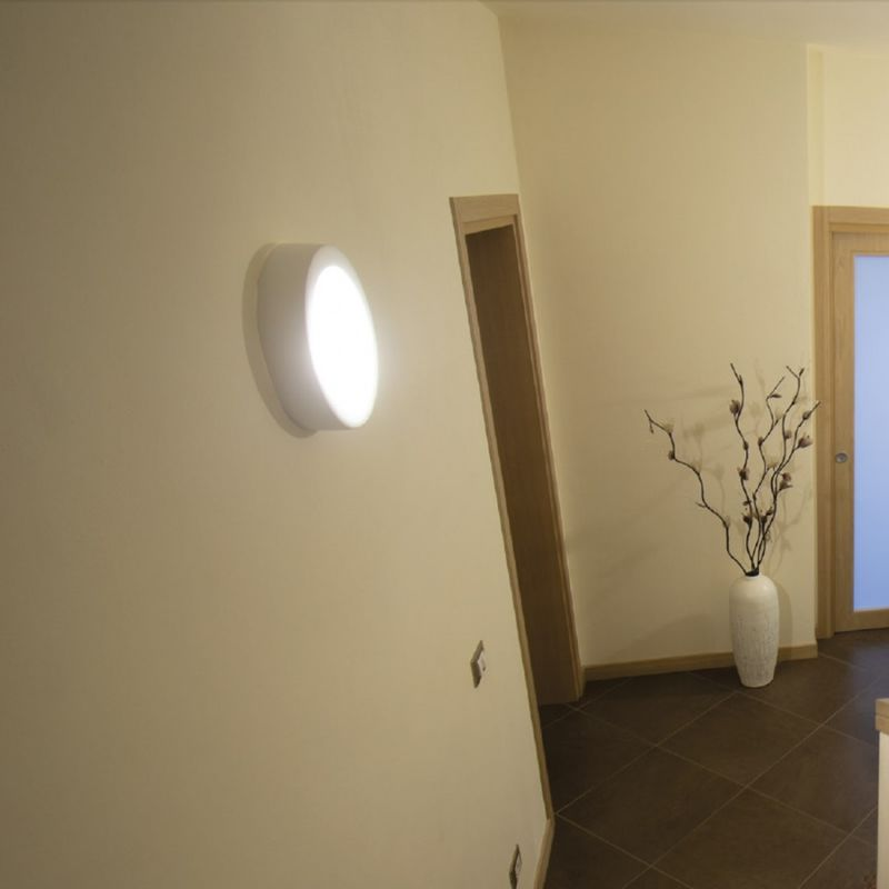 Plafoniera Led 30 Cm : Plafoniera bf w led cm gesso bianco vetro tondo soffitto