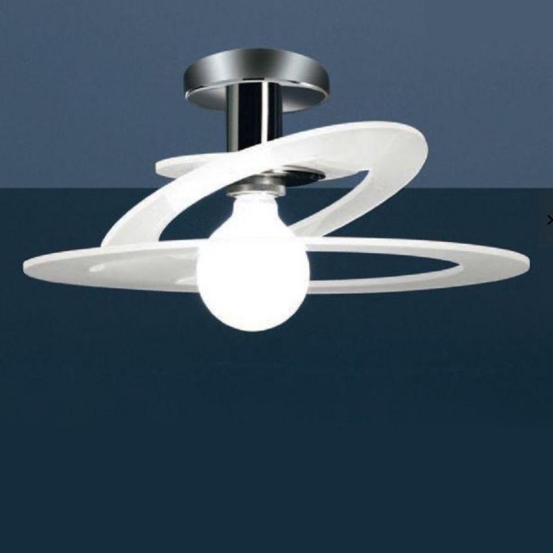 Plafoniera Led Da Interno : Plafoniera co cinderella 730 65pa e27 led 65cm vetro lampada