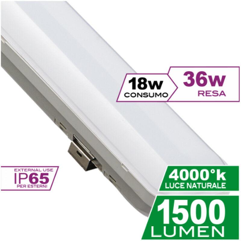 LED PLAFONIERA LINEA 18W 4000K 60CM IP65 - Ecoman