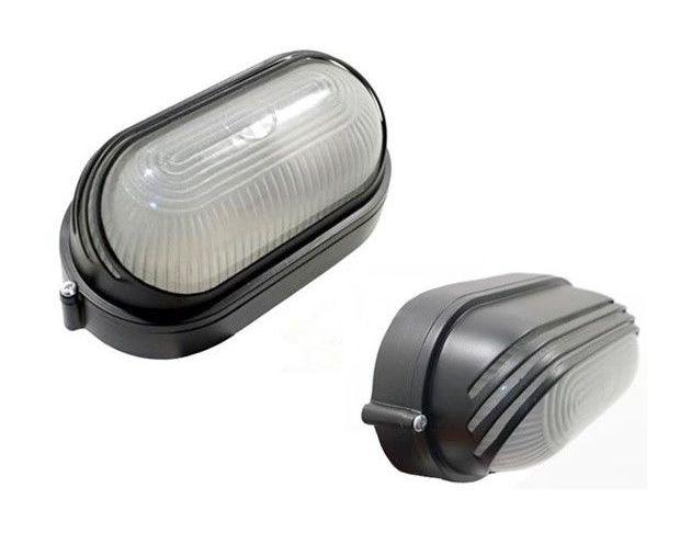 Plafoniera Per Esterno In Plastica : Plafoniera da esterno con calotta in vetro e griglia esterna