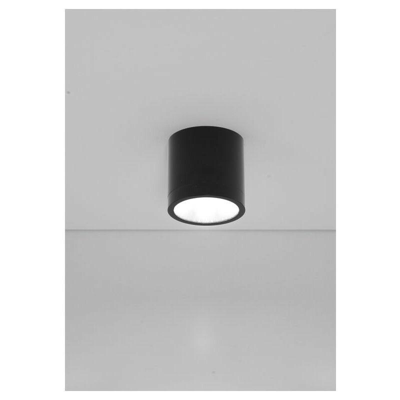 Plafoniera LED 10W 3000K 50° gradi IP20 colore nero DL013/50/NE - Nobile