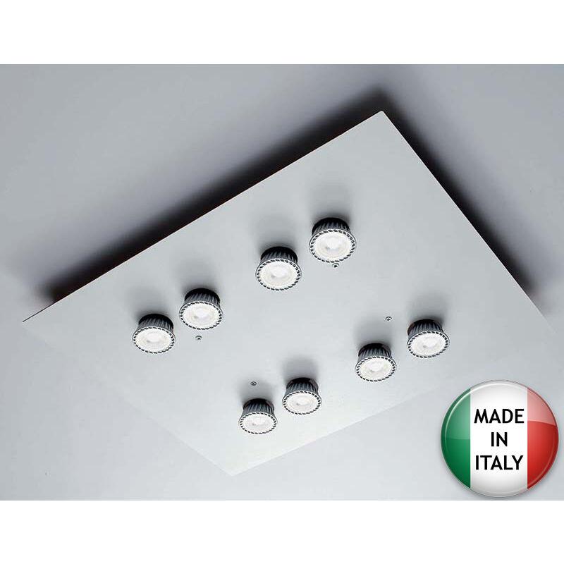 Plafoniere Per Macchine Utensili : Plafoniera dama bianca 8xgu10 per faretti gu10 max. 50w dama8