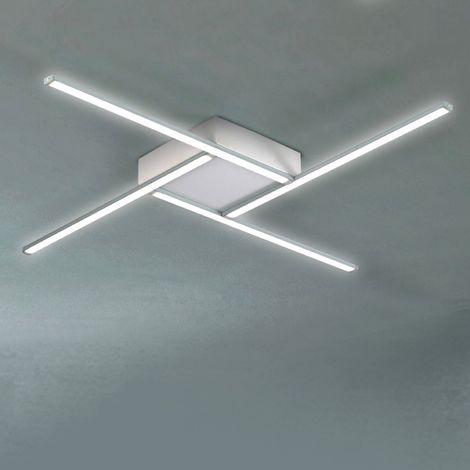 Lampadario Soffitto Led.Plafoniera Dp 2669 Pl 40w Led 3800lm 4000 K 24v Metallo Alluminio Bianco Lampada Soffitto Parete Ultramoderna Interno