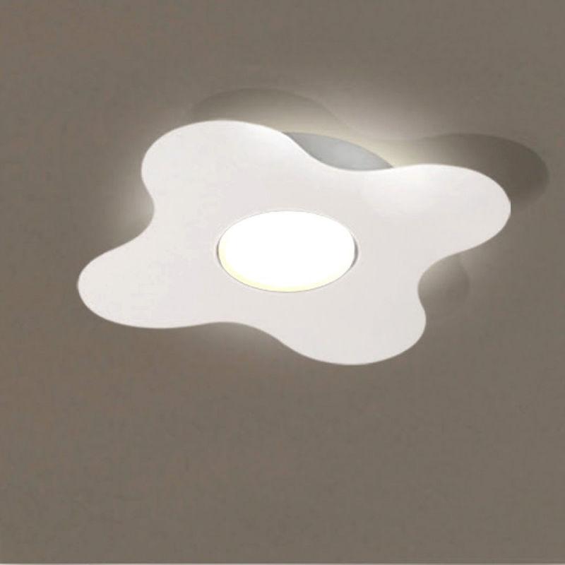 Plafoniera led due p illuminazione 2677 pl gx53 moderna metallo lampada parete soffitto