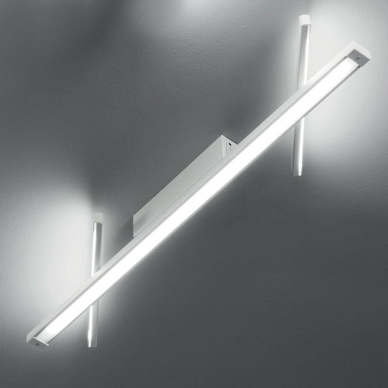 Plafoniera fb-digit 2068 pl125 40w led 3660lm metallo bianco lampada sofftto parete ultramoderna interno