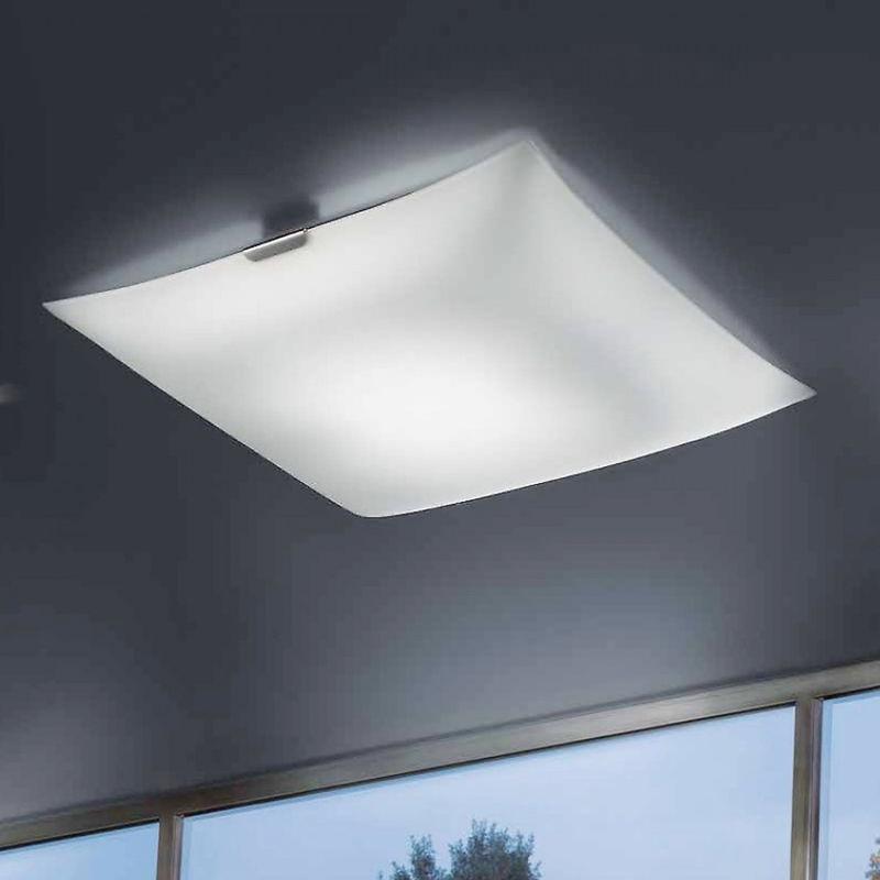 Plafoniera moderna glass 2081 pl50 30w led 2300lm 3000°k lampada soffitto vetro dimmerabile bianco interno - Fratelli Braga