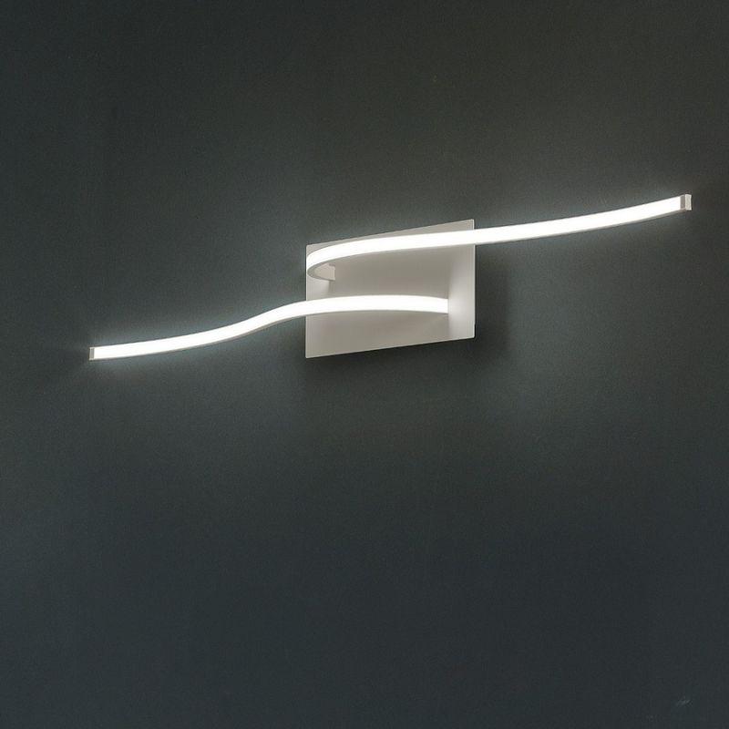 Plafoniera fb-scia 2127 pl2 25w led 2600 lm metallo lampada soffitto parete moderna, finitura metallo grigio