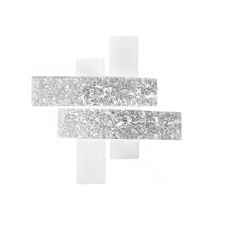 Plafoniere Moderne Colorate.Plafoniera Ge Lara Pp 50x50 E27 Led Vetro Colorato Decorato Lampada Soffitto Parete Ultramoderna Interno