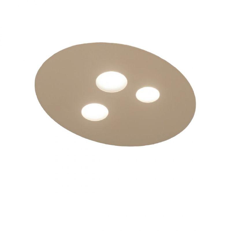 Plafoniera ge-luna pp gx53 led 47x40 alluminio metacrilato lampada soffitto moderno interno, finitura metallo tortora