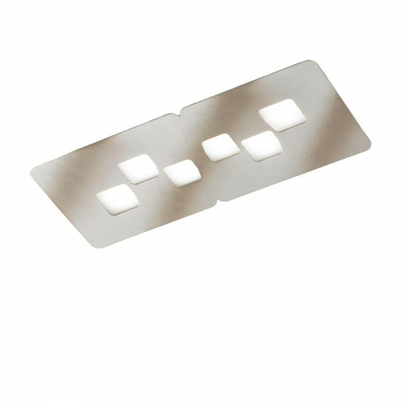 G.e.a.luce - Plafoniera gea luce bilbao pm gx53 led acciaio lampada soffitto moderna