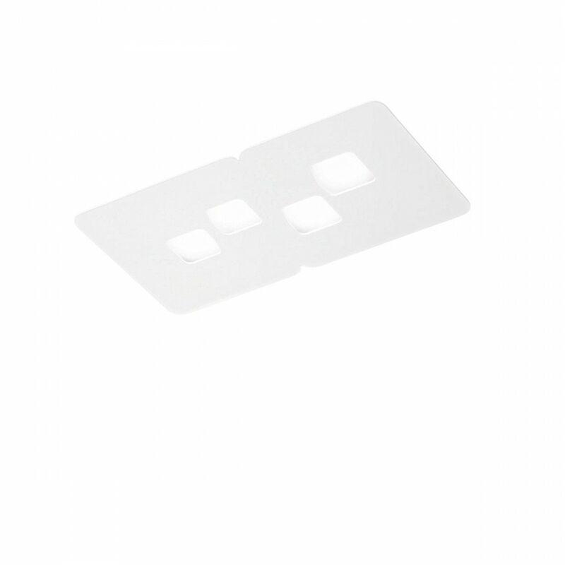 G.e.a.luce - Plafoniera gea luce bilbao pp gx53 led bianco lampada soffitto moderna - G.E.A. LUCE