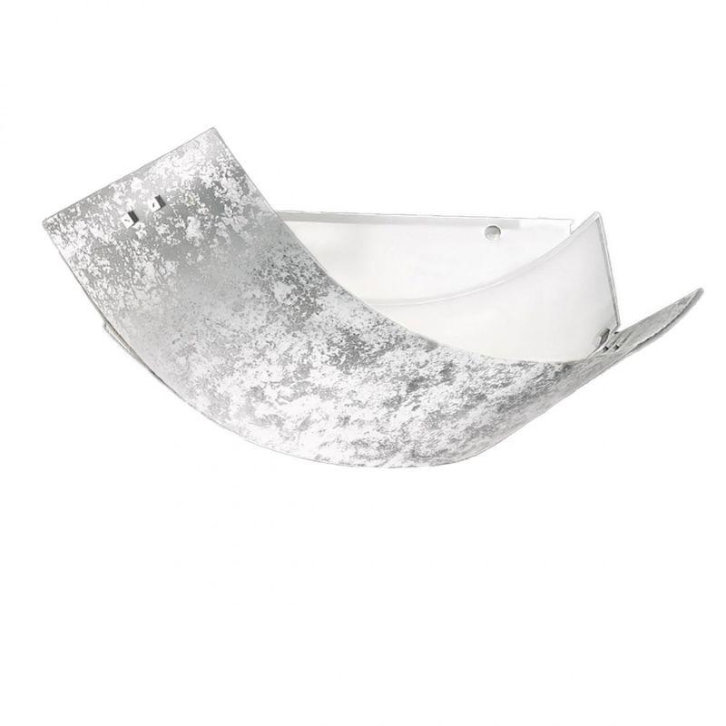 Plafoniera gea luce camilla pp e14 led foglia argento vetro decorato lampada soffitto parete moderna interno - G.E.A. LUCE