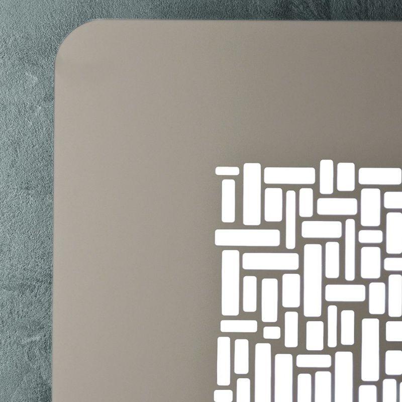 Giarnieri Light - Plafoniera gn-pixel pm 39w led 3900lm 3000°k 52x52 dimmerabile soffitto quadrata alluminio moderna interno, finitura metallo tortora