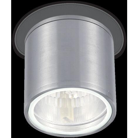 Plafoniera id-gun pl1 gu10 led ip44 alluminio moderno esterno lampada soffitto cilindro