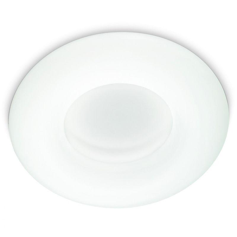 Plafoniera Tonda A Led : Plafoniera id polo pl led cm policarbonato bianco opaco