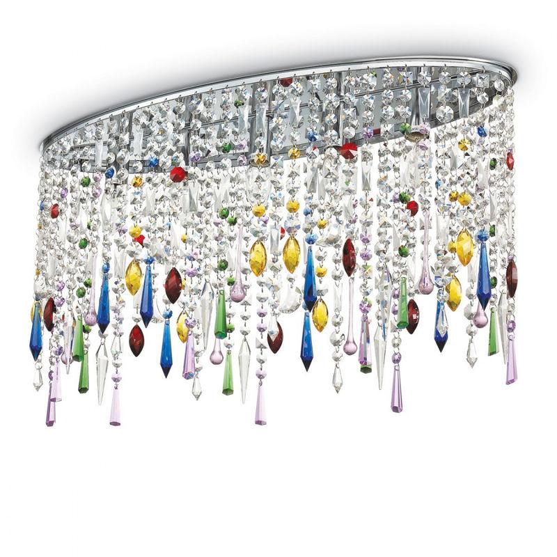 Plafoniere Da Soffitto In Cristallo : Plafoniera id rain color pl e led ovale cristallo trasparente