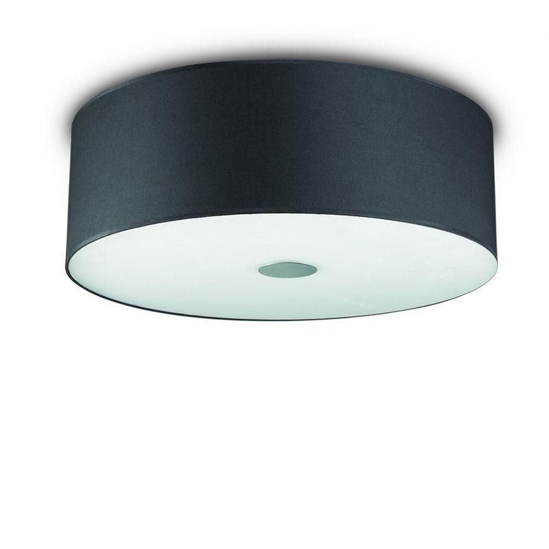 Plafoniera Quadrata E27 : Plafoniera id woody pl e tessuto nero metallo classico moderno