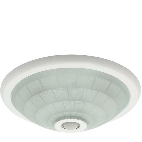 plafoniera in vetro con sensore crepuscolare 2 luci 220-240 volt CE E27 IP20 bianco di movimento kan 18120