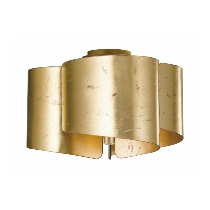 Shop-day - Plafoniera in vetro di colore oro 60 watt E27