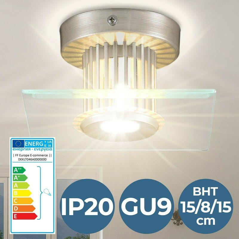 Plafoniera lampada da soffitto luce lampadario rettangolare per soggiorno - NOVA