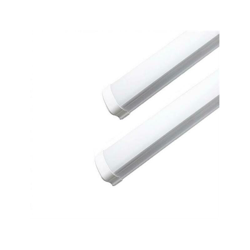 Plafoniera Led 120Cm 36W 220V Bordo Bianco Alto Ip65 Kit 4 Pezzi