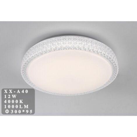 Plafoniera LED 12W rotonda con cristalli sfaccettati