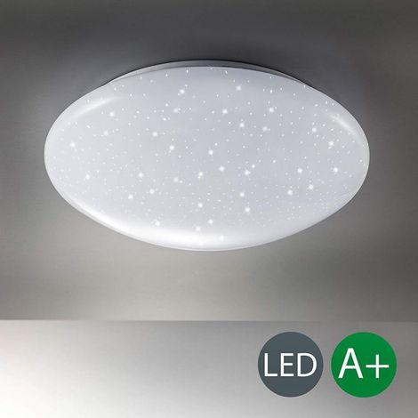 PLAFONIERA LED 15W FORMA CIRCOLARE EFFETTO CIELO STELLATO BRILLANTINI LAMPADARI