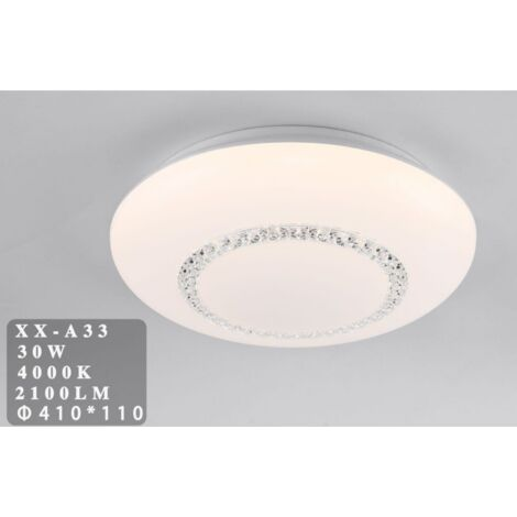 Plafoniera LED 30W cupola con cristalli Ø41 cm
