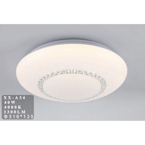 Plafoniera LED 40W cupola con cristalli Ø51 cm