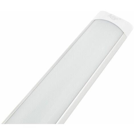 Plafoniera led 40W naturale 120cm slim smd soffitto 220V lampada silver