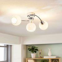 Plafoniera LED Benedikt in vetro opalino