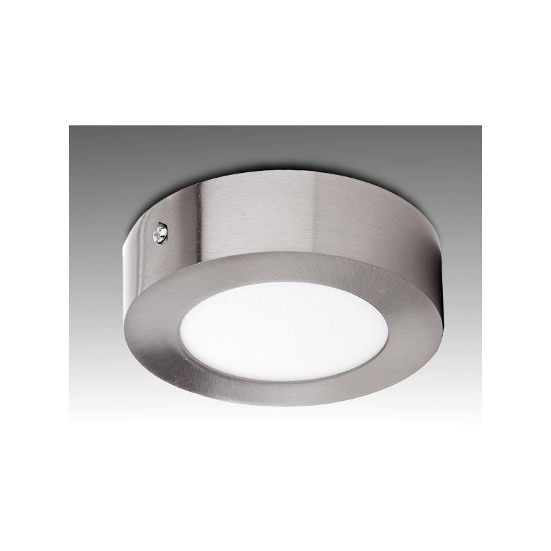 Greenice - Plafoniera LED Circolare Ø120Mm 6W 430Lm 50.000H Nichel Satinato | Bianco Freddo (GL-PL-SM6RN-CW)