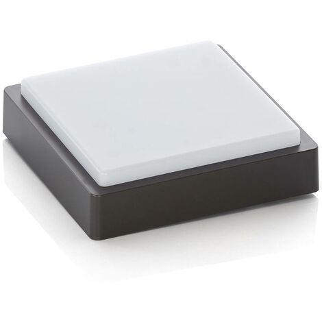 Plafoniera LED da esterni Nermin, IP65 quadrata