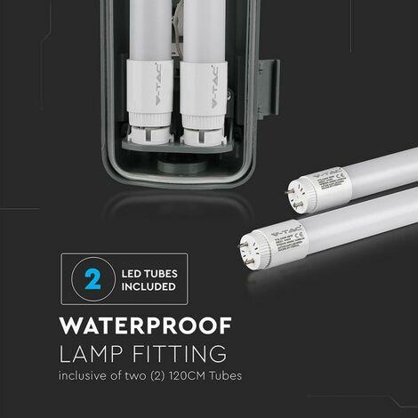 Plafoniera LED Doppia Impermeabile 36W 120cm IP65