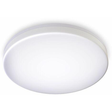 Plafoniera LED, lampadario bagno a luce bianca naturale 4000K, LED integrati 24W, 2800 Lm, lampada da soffitto resistente agli schizzi d'acqua IP54, plafoniera moderna diametro 33cm, plastica, 230V