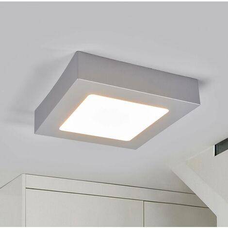 Plafoniera LED Marlo argento 3.000K angolare 18 cm