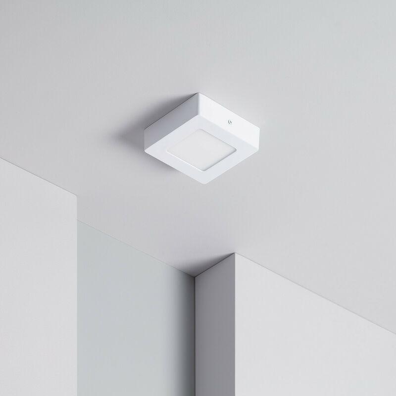 Plafoniera LED Quadrata 6W Bianco Caldo 2800K - 3200K