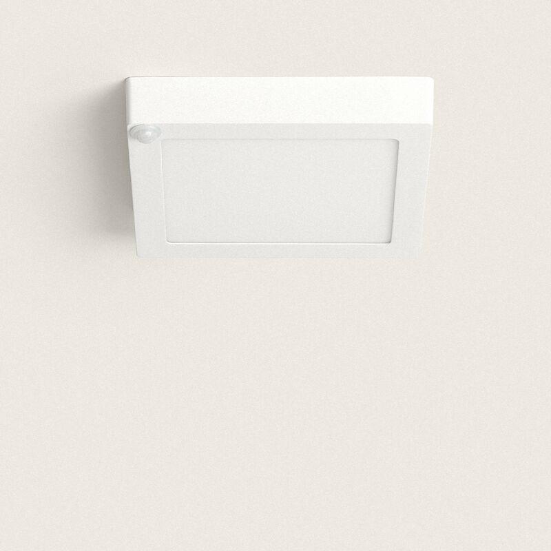 Plafoniera Per Esterno Con Rilevatore Di Presenza : Plafoniera led quadrata con sensore di movimento pir w bianco