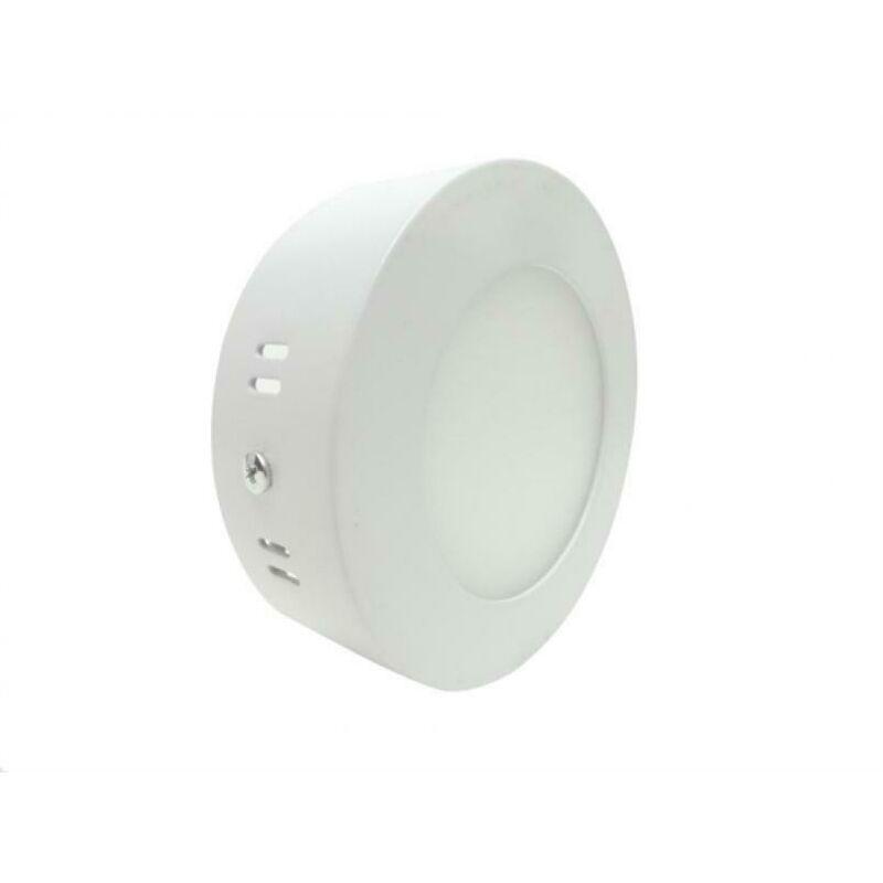 Vivalamp - Plafoniera led rotonda 6w da soffitto, parete con rifinitura bianca 12cm kit 5 pezzi 4200k
