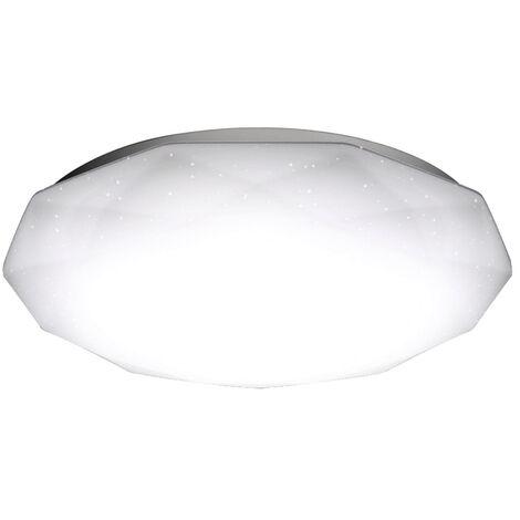 Plafoniera Led Rotonda Diamante da 12W Bianco Caldo 3000K