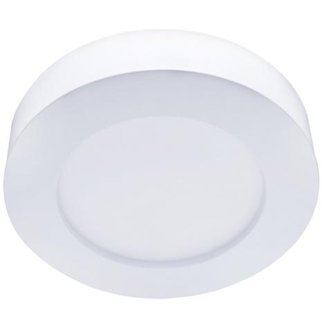 Plafoniera Led Slim 16W Cornice Bianca Applique Tondo Bianco Neutro 4000K